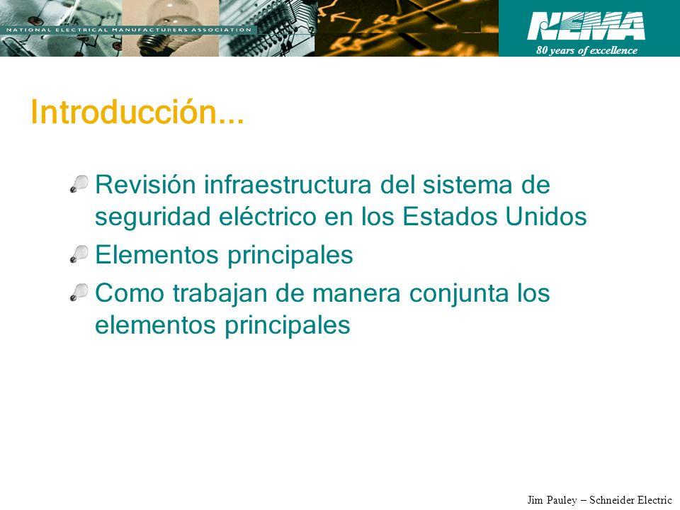 Introducción... Revisión infraestructura del sistema de seguridad eléctrico en los Estados Unidos. Elementos principales.