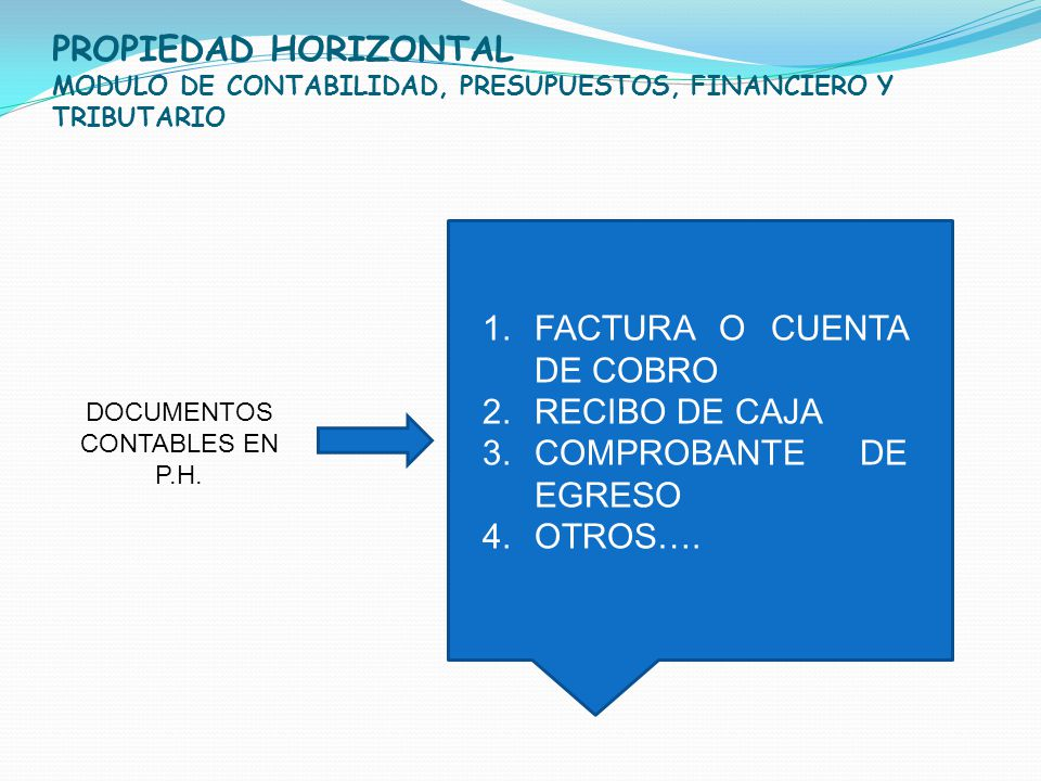 DOCUMENTOS CONTABLES EN P.H.