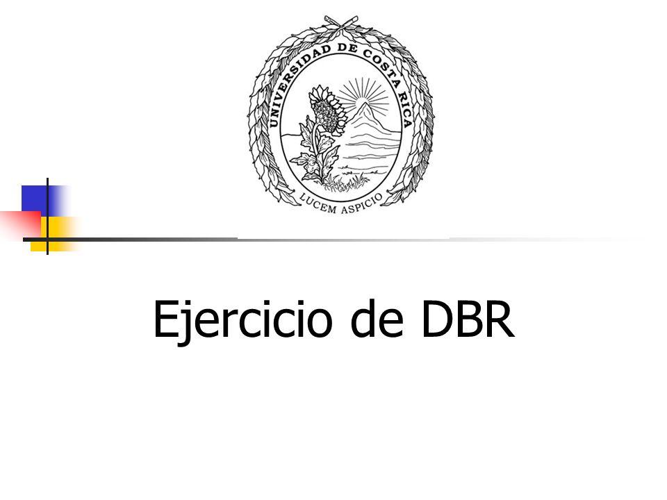 Ejercicio de DBR