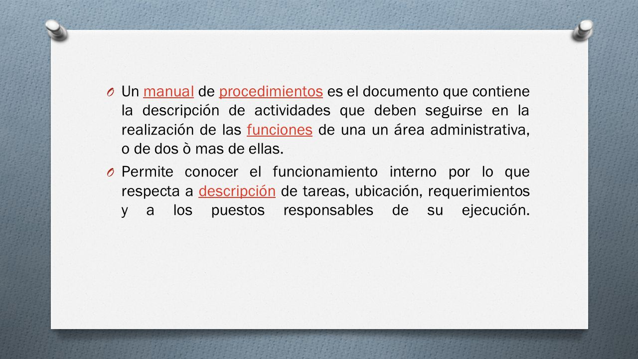 Manual de procedimientos administrativos ppt video for Manual de funciones y procedimientos de un restaurante
