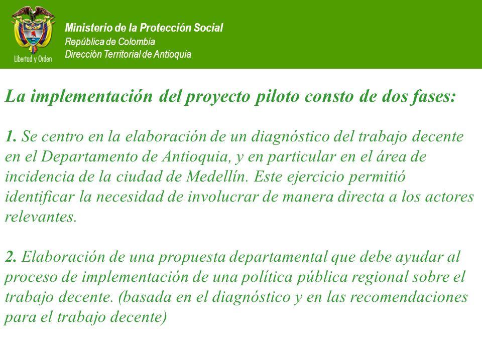 La implementación del proyecto piloto consto de dos fases: 1