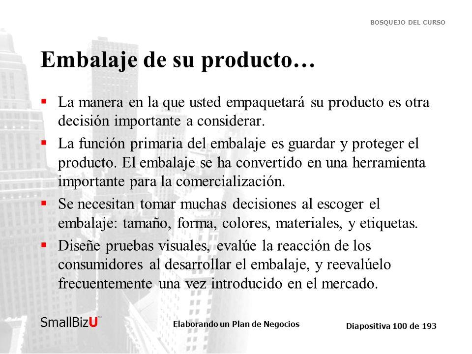 Embalaje de su producto…