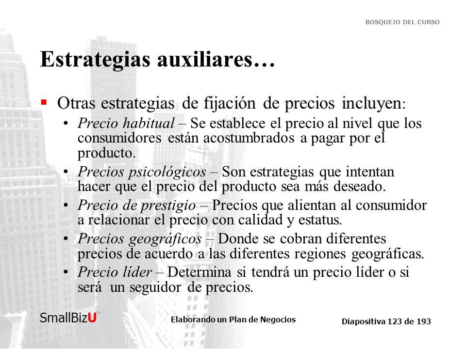 Estrategias auxiliares…