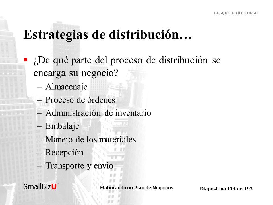 Estrategias de distribución…