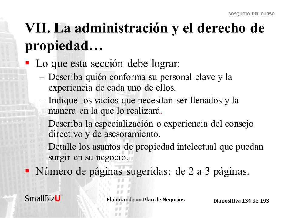 VII. La administración y el derecho de propiedad…