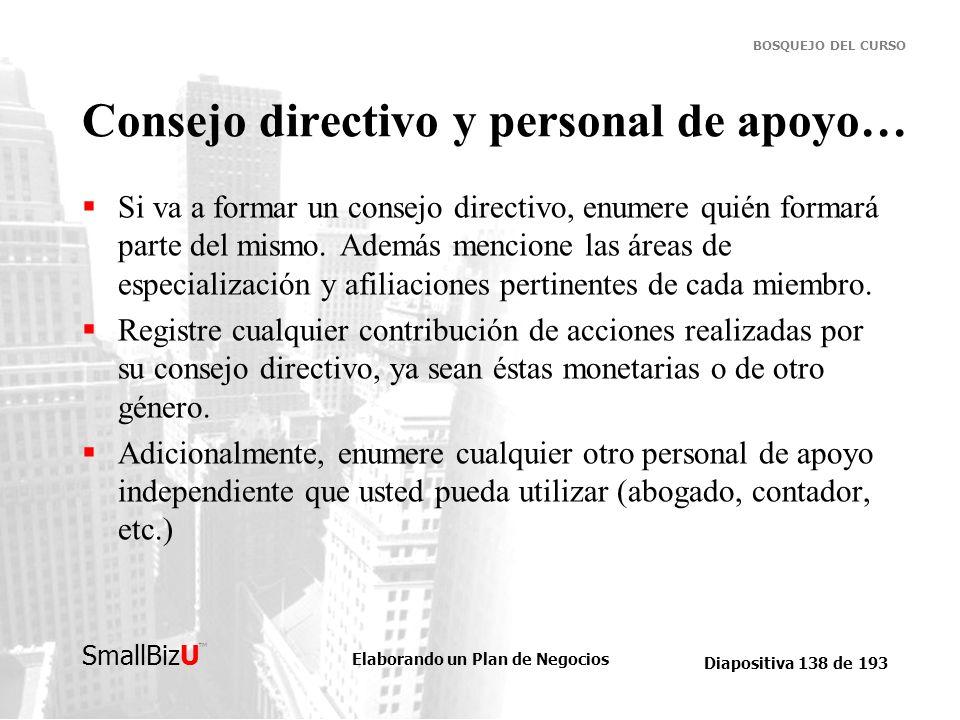 Consejo directivo y personal de apoyo…