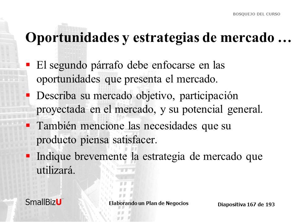 Oportunidades y estrategias de mercado …