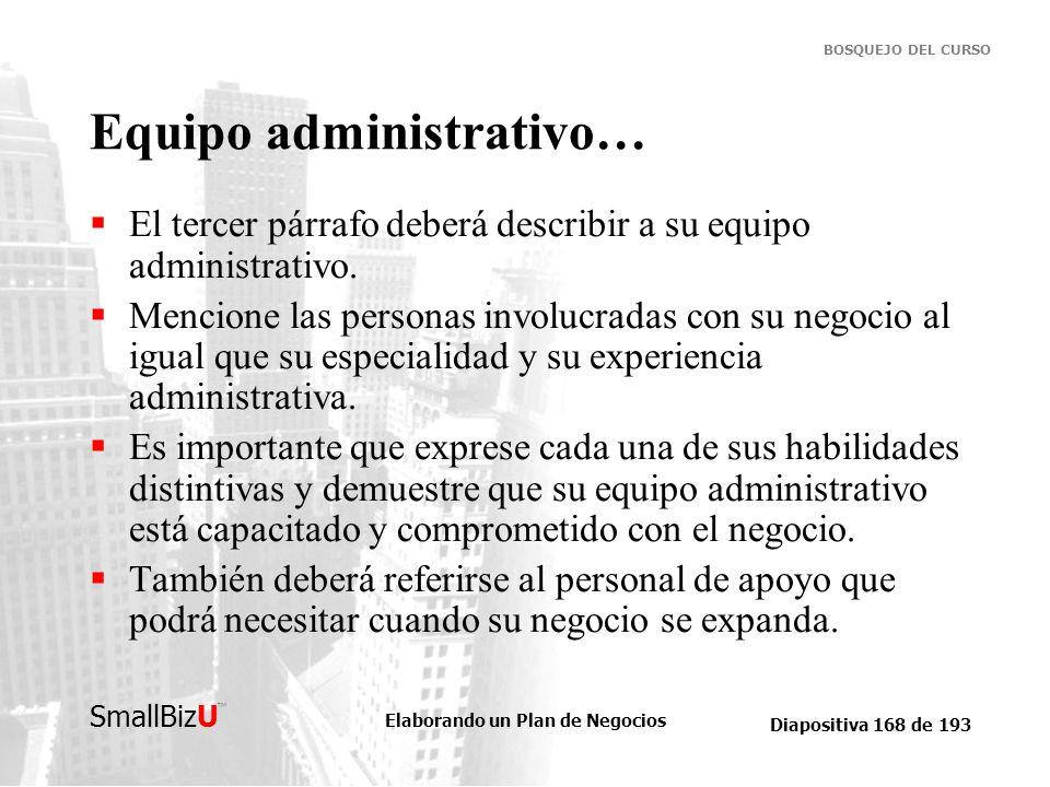Equipo administrativo…
