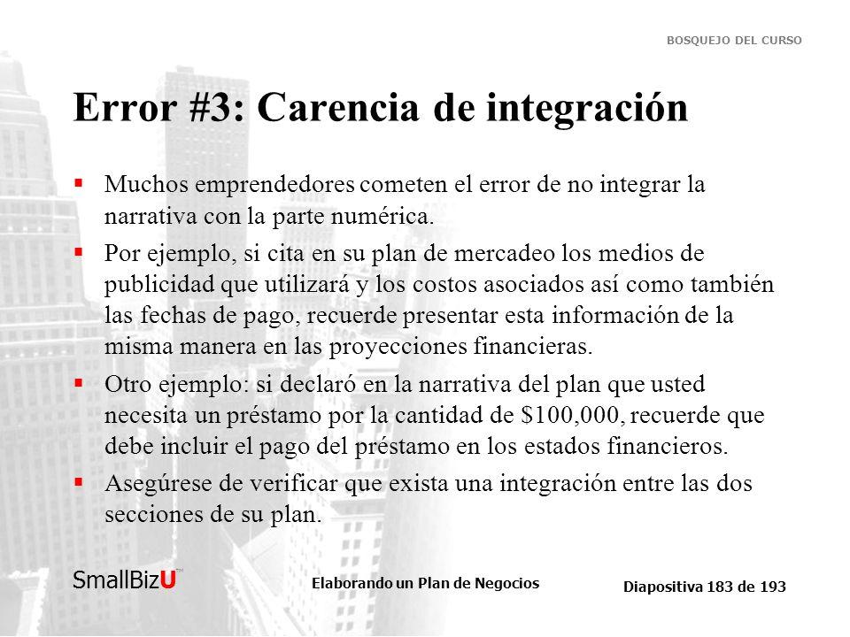 Error #3: Carencia de integración