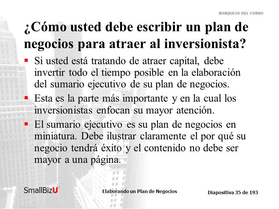 ¿Cómo usted debe escribir un plan de negocios para atraer al inversionista