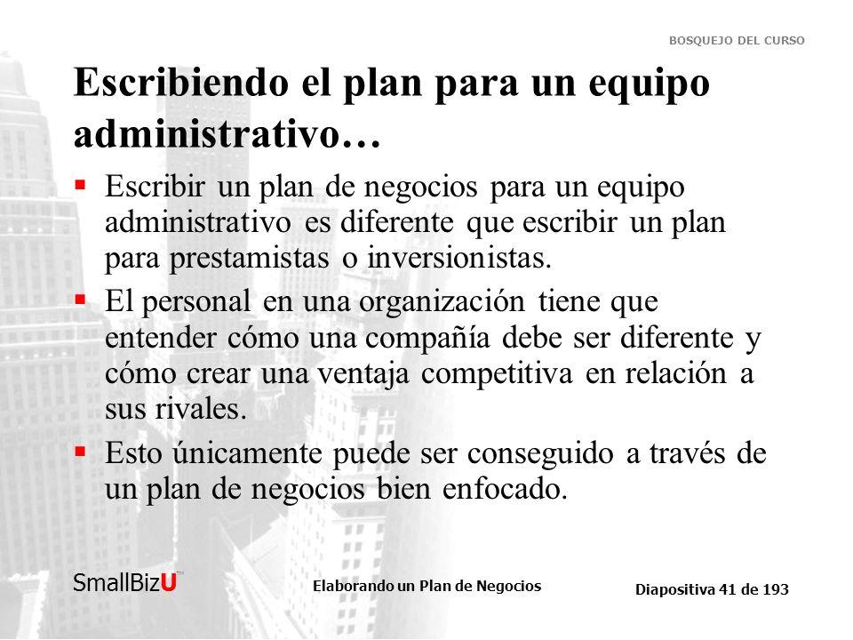 Escribiendo el plan para un equipo administrativo…