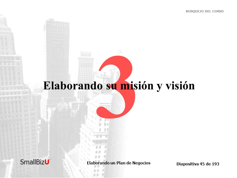 Elaborando su misión y visión