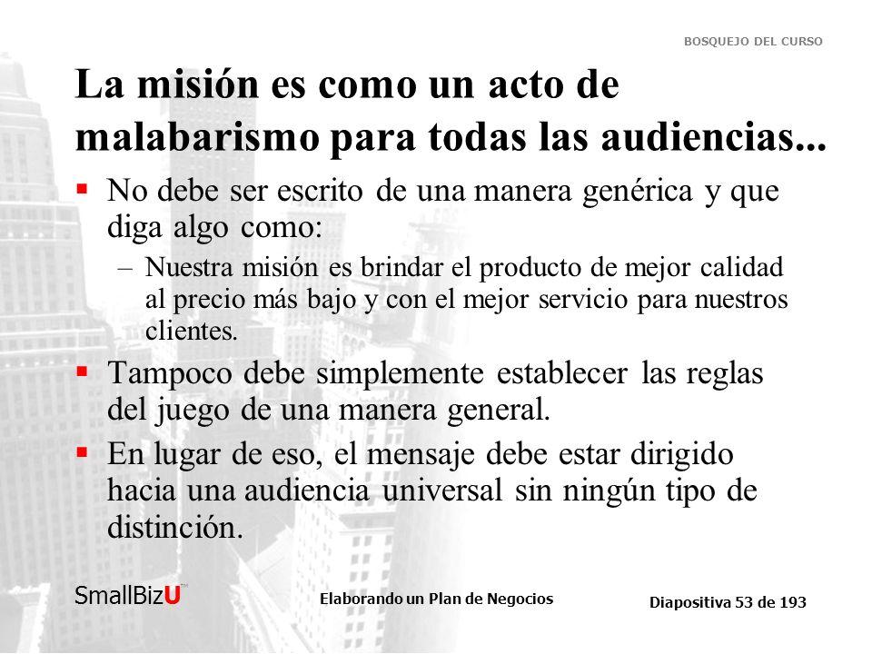 La misión es como un acto de malabarismo para todas las audiencias...