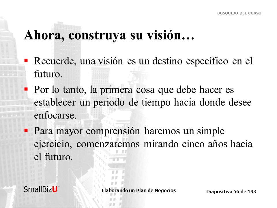 Ahora, construya su visión…