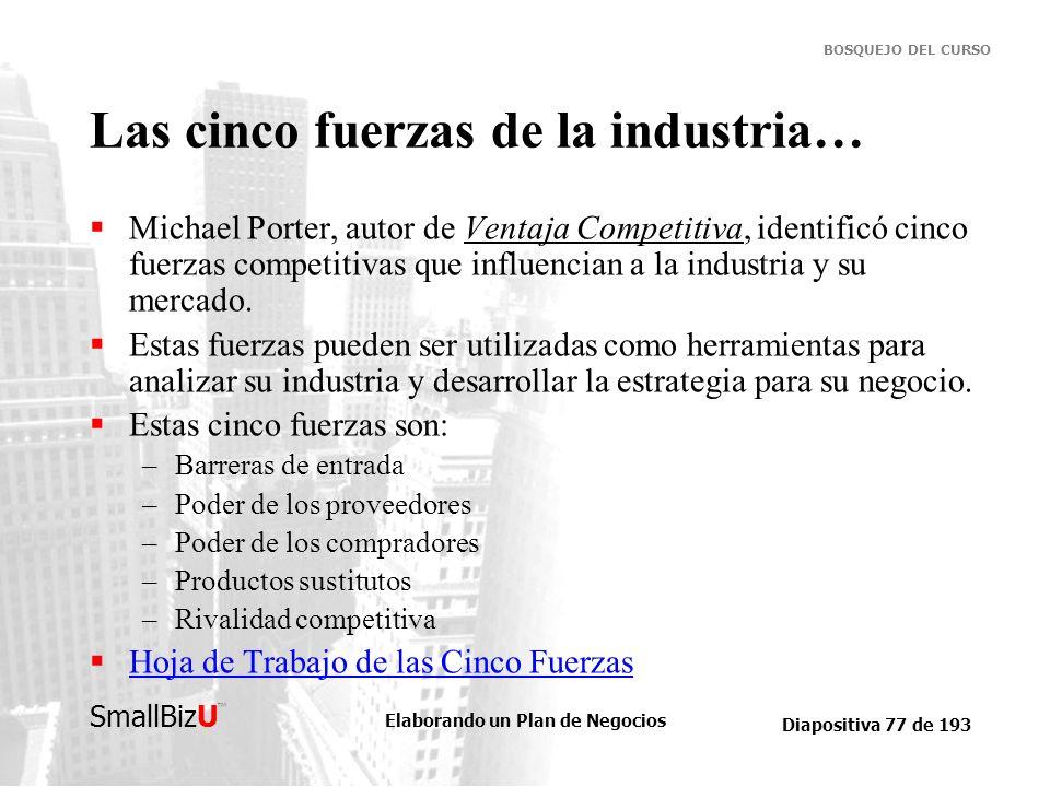Las cinco fuerzas de la industria…