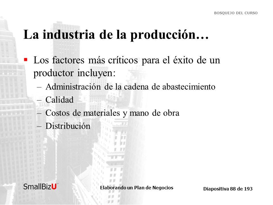 La industria de la producción…