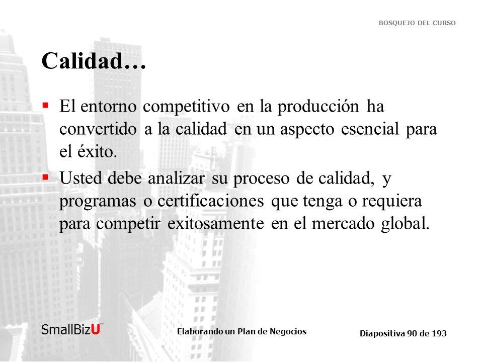 Calidad…El entorno competitivo en la producción ha convertido a la calidad en un aspecto esencial para el éxito.
