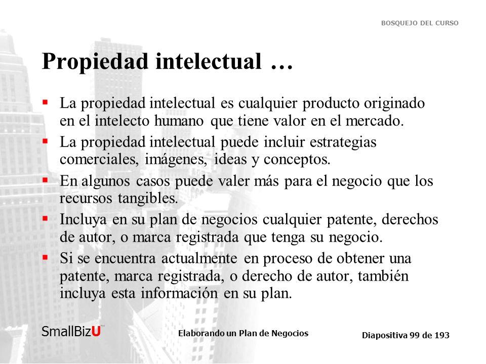 Propiedad intelectual …