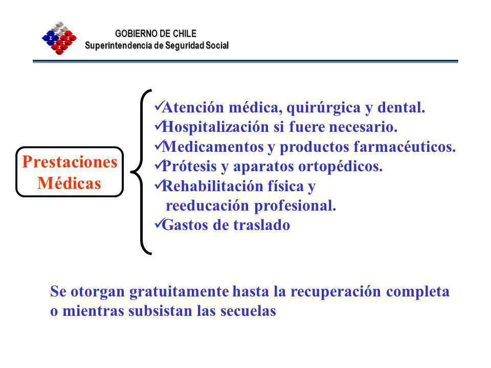 Prestaciones Médicas Atención médica, quirúrgica y dental.
