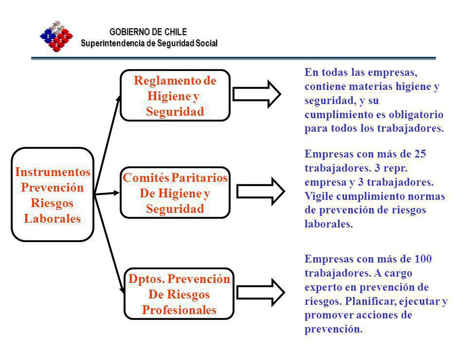 Reglamento de Higiene y Seguridad Instrumentos Prevención