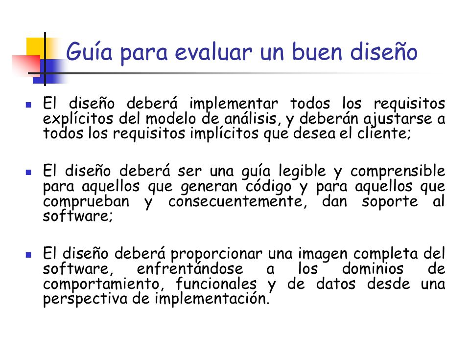 Dise o del software dise o de datos dise o arquitect nico for Software de diseno arquitectonico