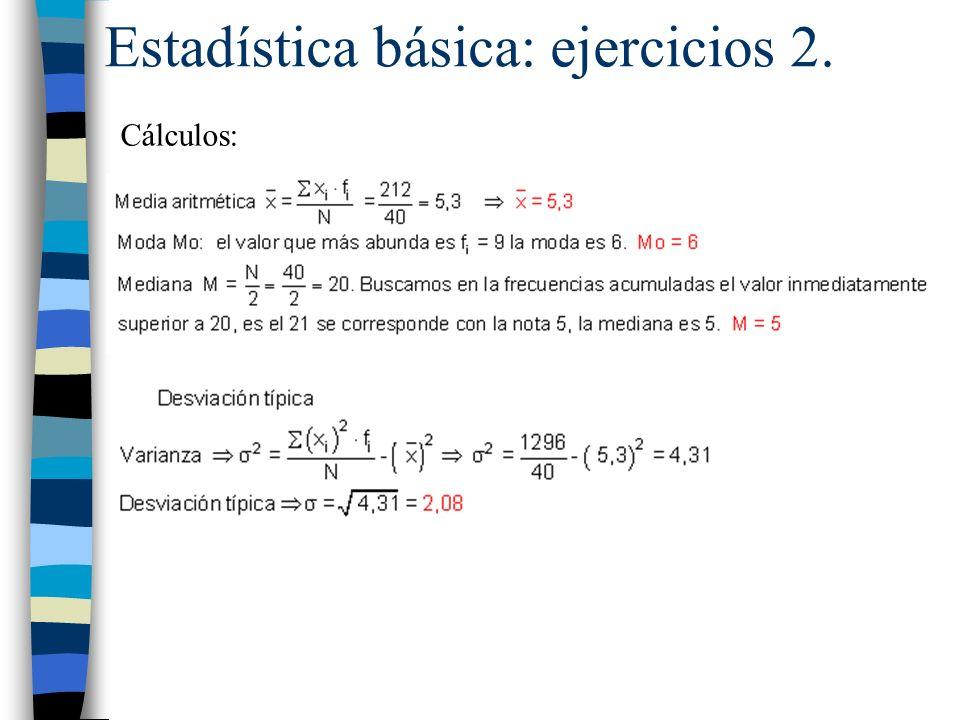 Estadística básica: ejercicios 2.