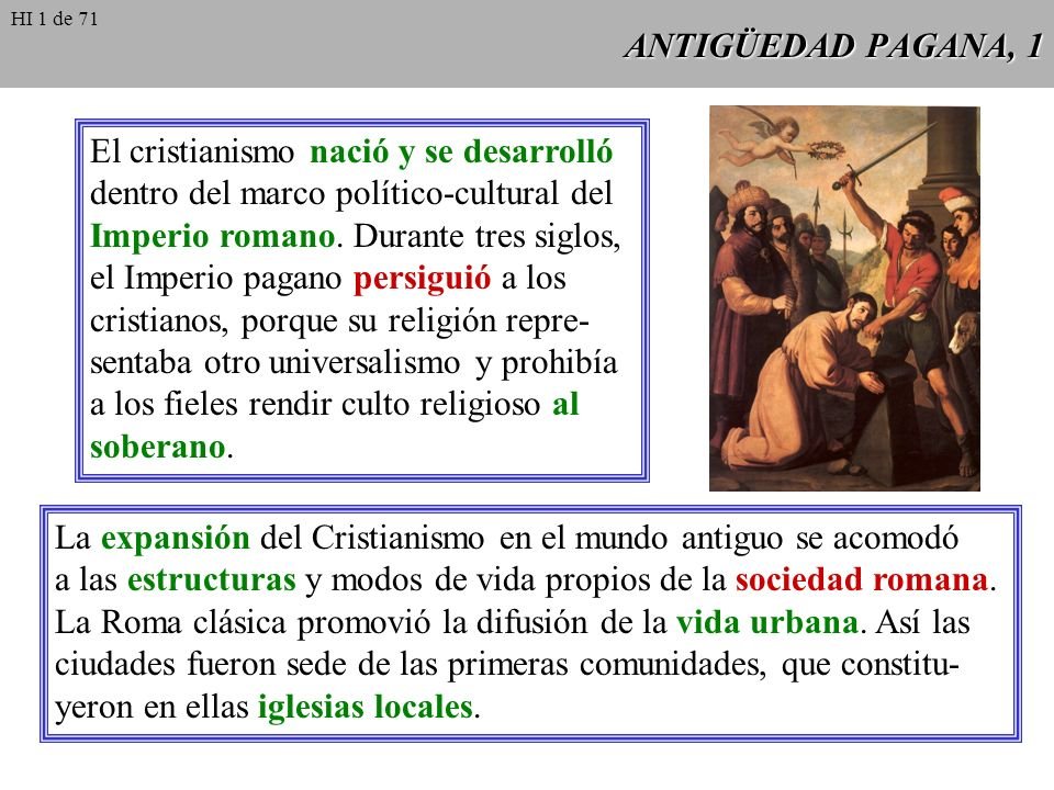 El cristianismo nació y se desarrolló