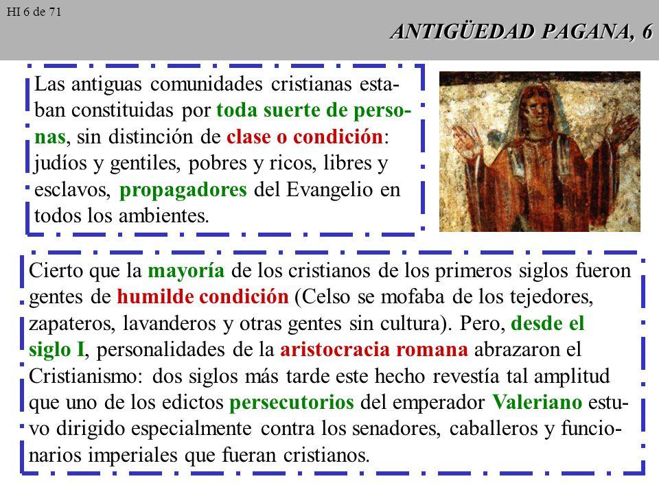 Las antiguas comunidades cristianas esta-