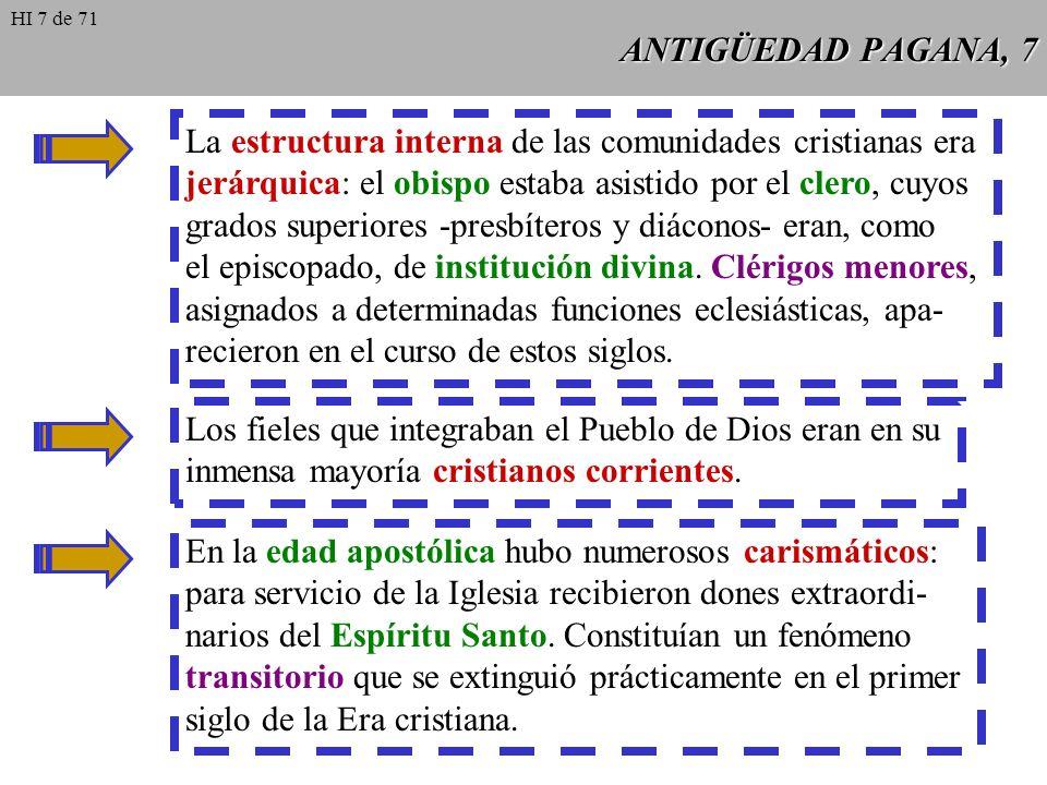 La estructura interna de las comunidades cristianas era