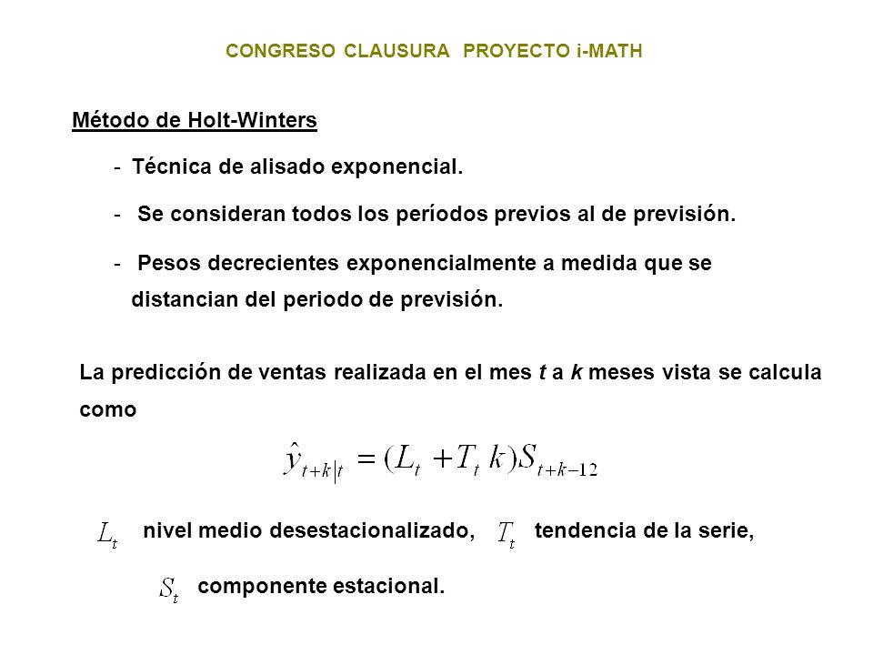 Método de Holt-Winters
