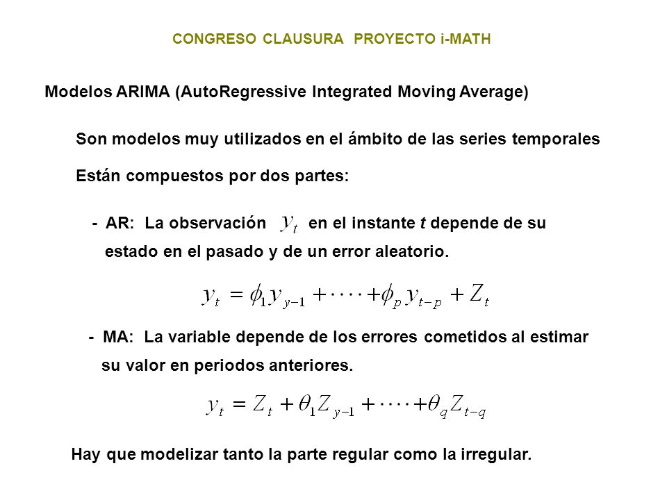 Modelos ARIMA (AutoRegressive Integrated Moving Average)
