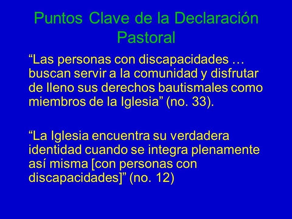 Puntos Clave de la Declaración Pastoral