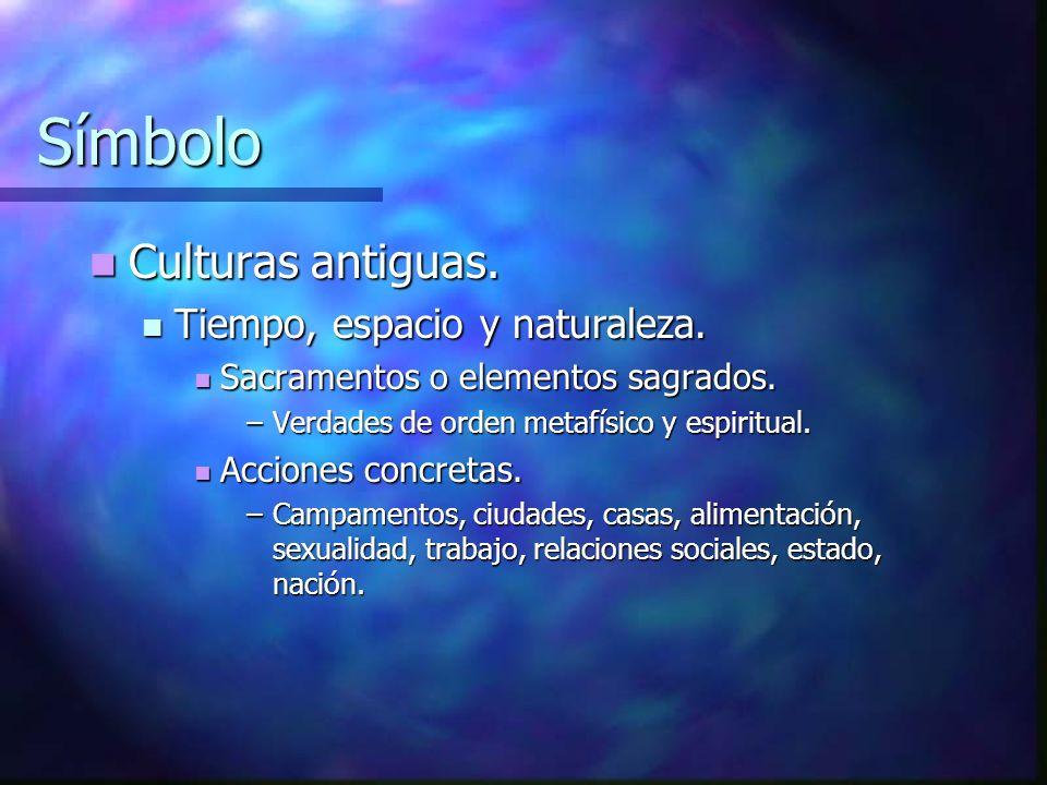 Símbolo Culturas antiguas. Tiempo, espacio y naturaleza.