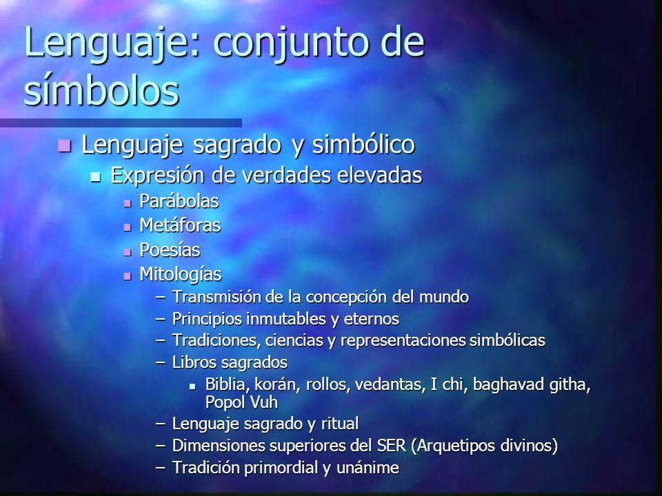 Lenguaje: conjunto de símbolos