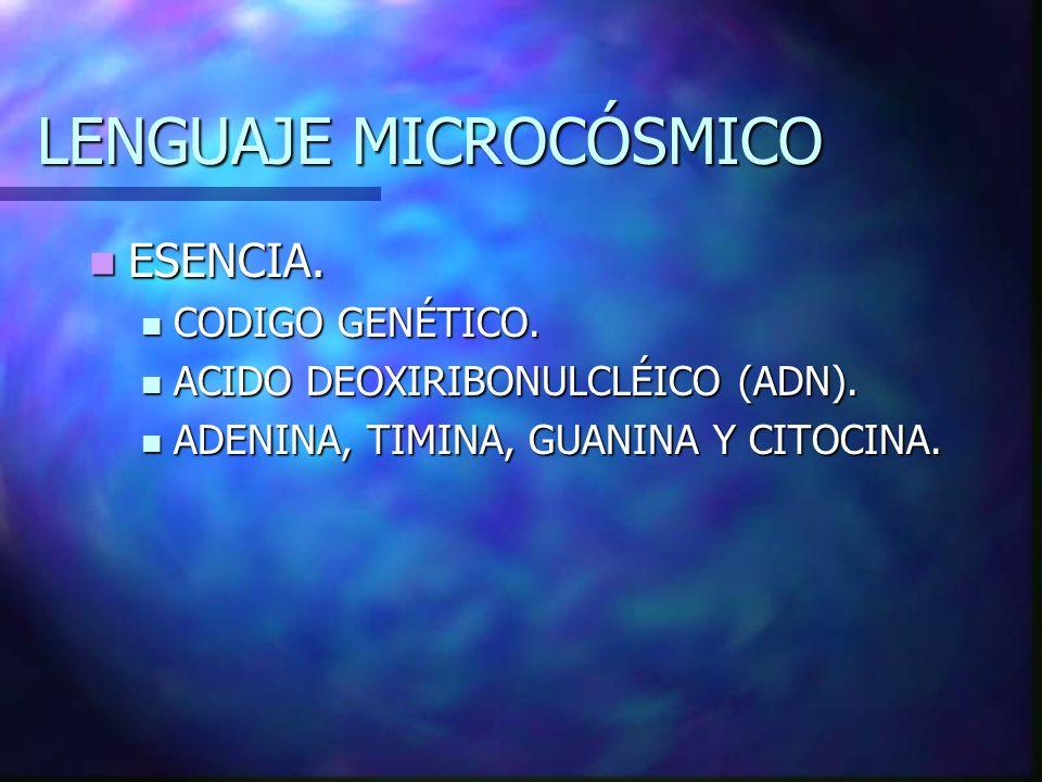 LENGUAJE MICROCÓSMICO