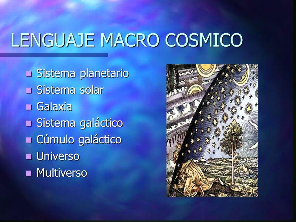LENGUAJE MACRO COSMICO