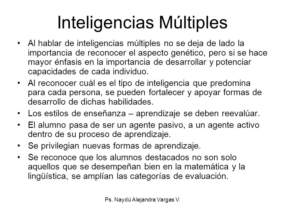 Inteligencias Múltiples