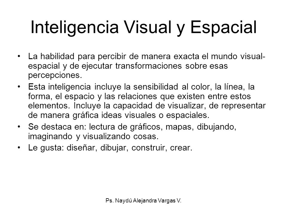 Inteligencia Visual y Espacial