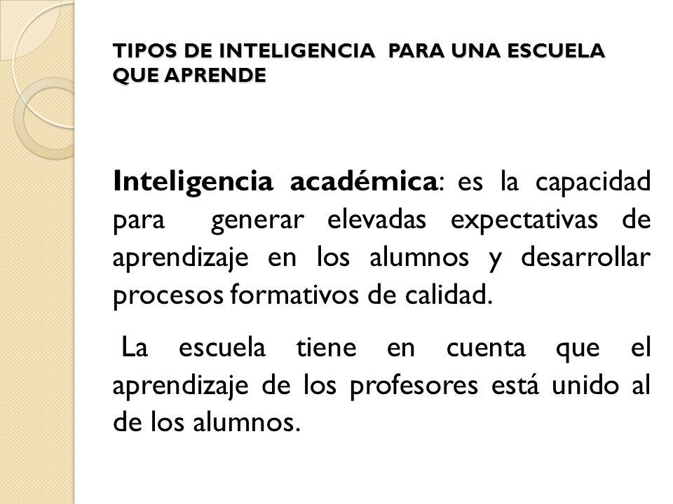 Tipos de inteligencia para una escuela que aprende ppt for Tipos de estanques para acuicultura