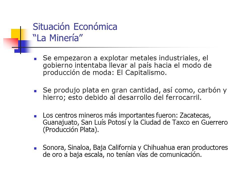 Situación Económica La Minería