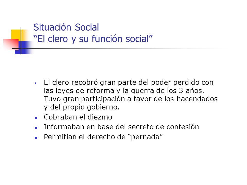 Situación Social El clero y su función social