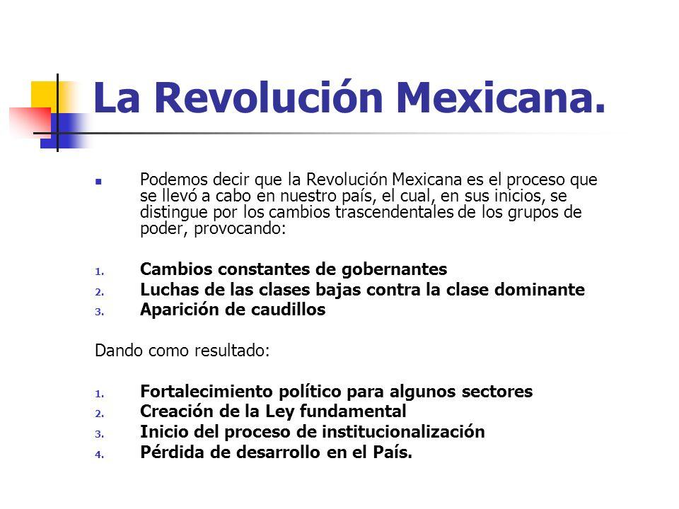 La Revolución Mexicana.