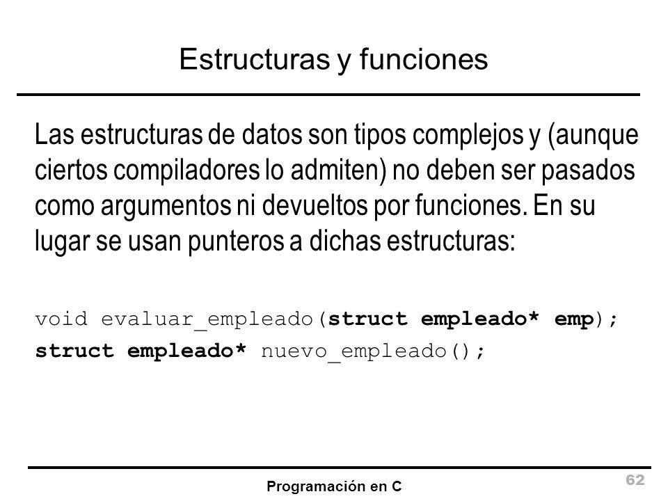 Estructuras y funciones