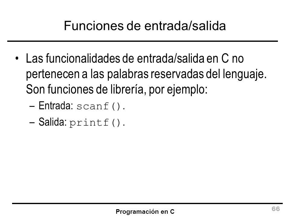 Funciones de entrada/salida