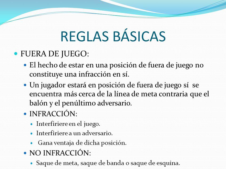 F tbol ppt video online descargar for 5 reglas del futbol de salon