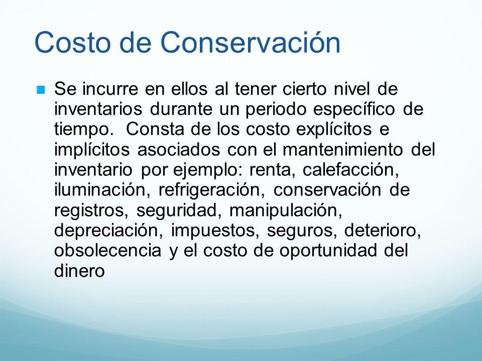 Costo de Conservación
