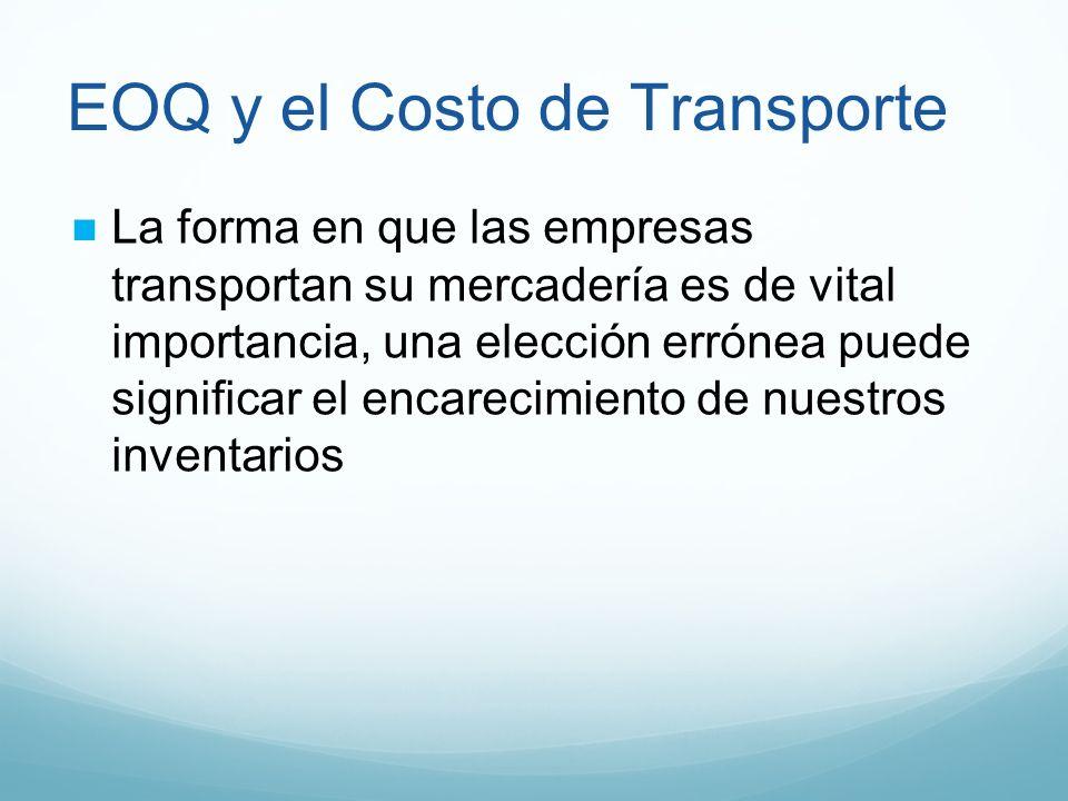 EOQ y el Costo de Transporte