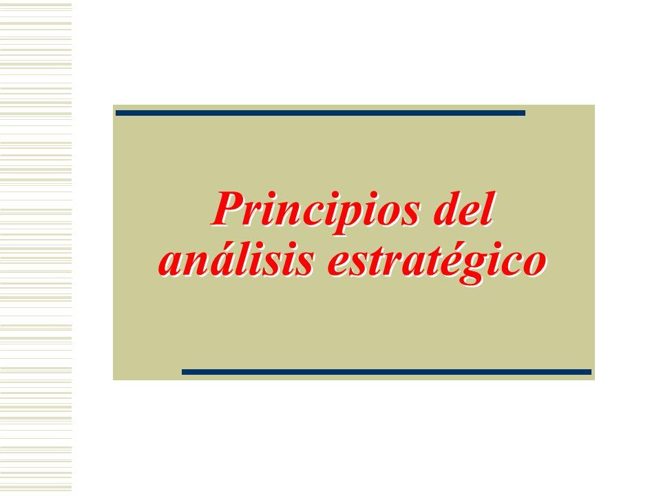 Principios del análisis estratégico