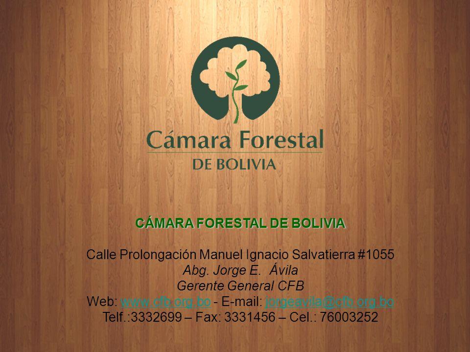 CÁMARA FORESTAL DE BOLIVIA