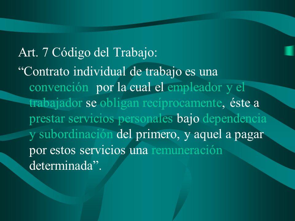 Art. 7 Código del Trabajo: